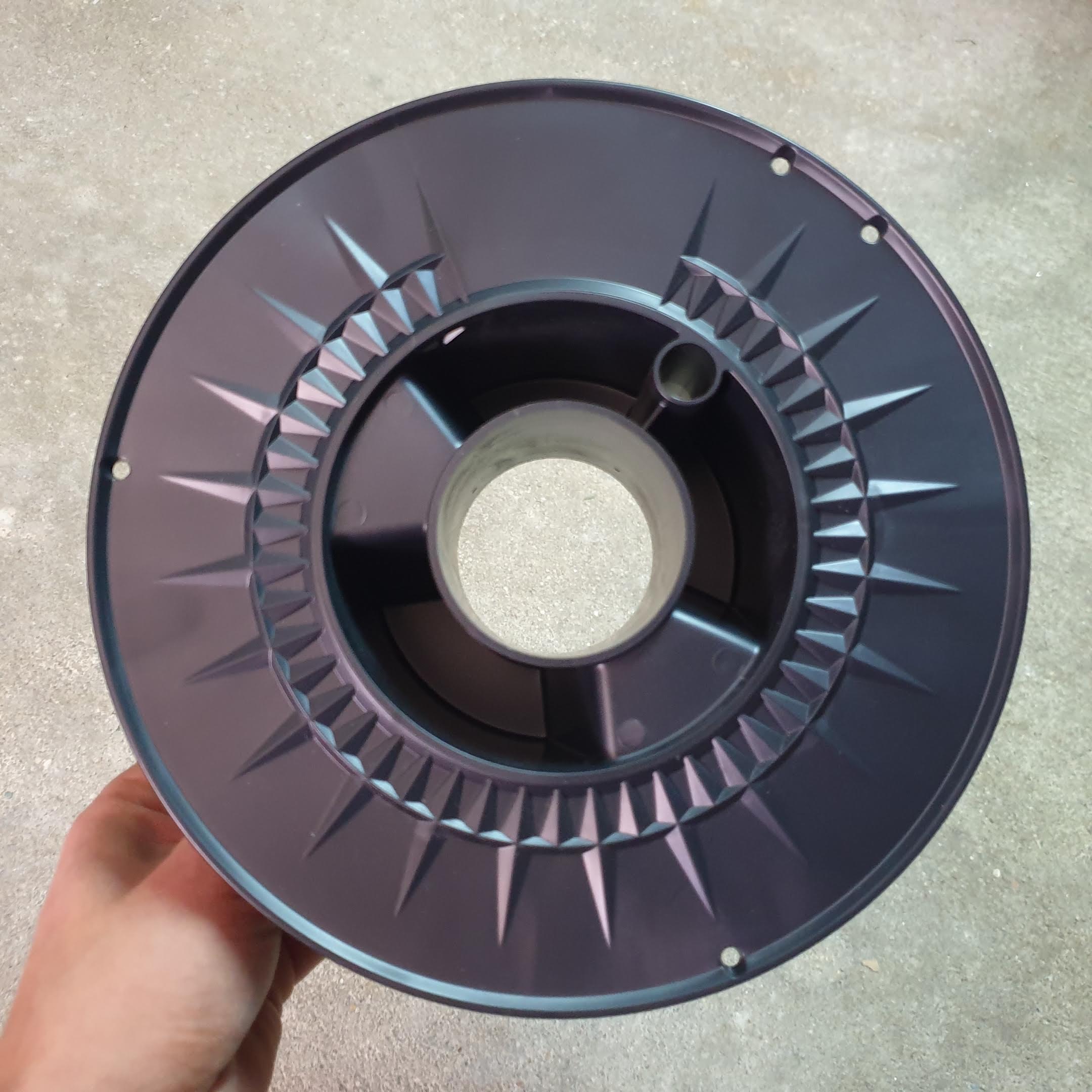 Bobina de filamento 3D lateral