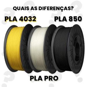 PLA 4032 vs PLA 850 vs PLA PRO - quais são as diferenças?